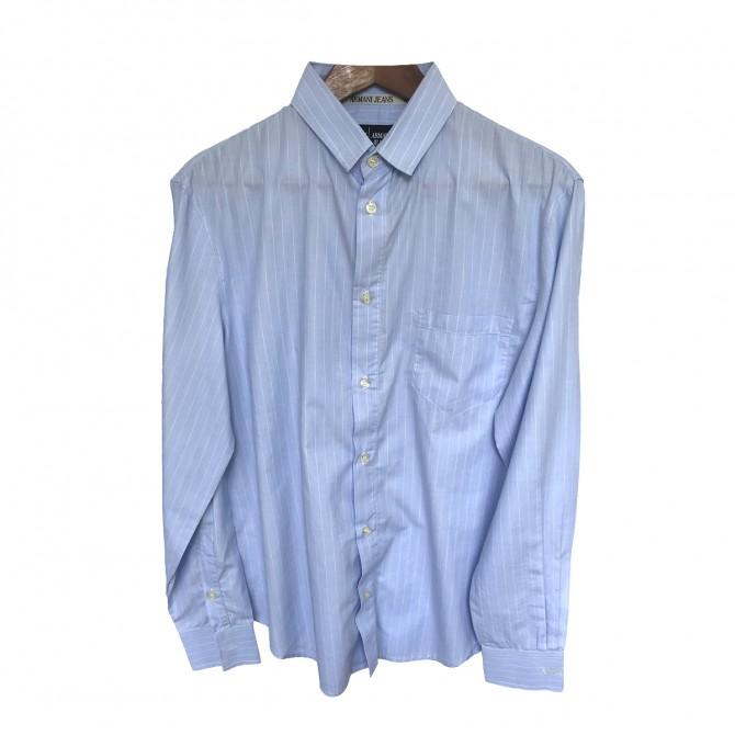 Armani Jeans blue stripped shirt