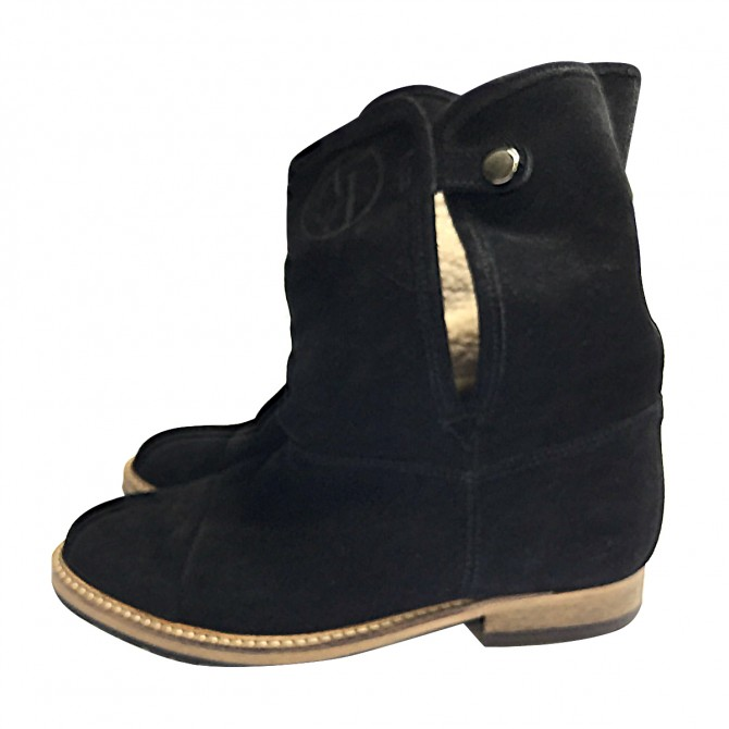Armani Jeans Black Boots