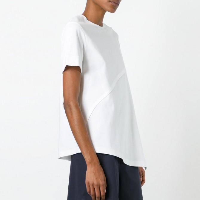 Cédric Charlier asymmetric hem T-shirt