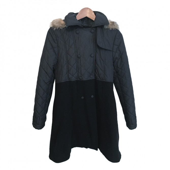 Lapin House Girls Black Coat