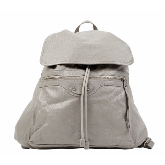 Balenciaga grey leather backpack