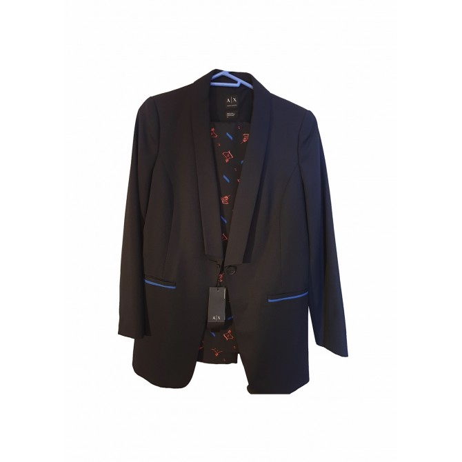 ARMANI EXCHANCE BLUE BLAZER WITH BLUE MULTICOLOR TROUSERS
