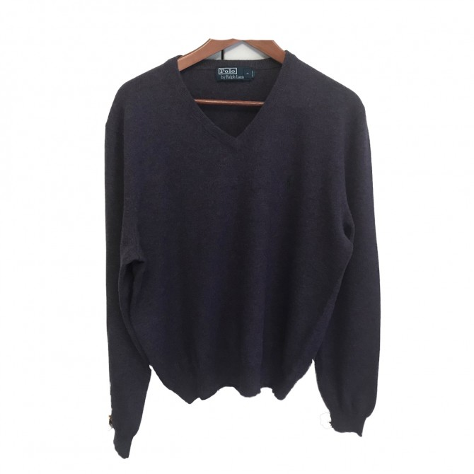 Polo Ralph Lauren purple mens sweater size L
