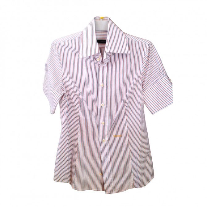 DSQUARED SHORT SLEEVE STRIPPED SHIRT