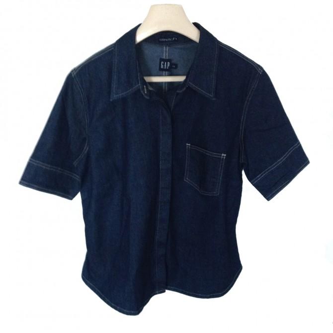 GAP dark blue denim shirt