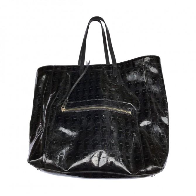 Karl Lagerfeld black PVC & Leather ToTe Handbag