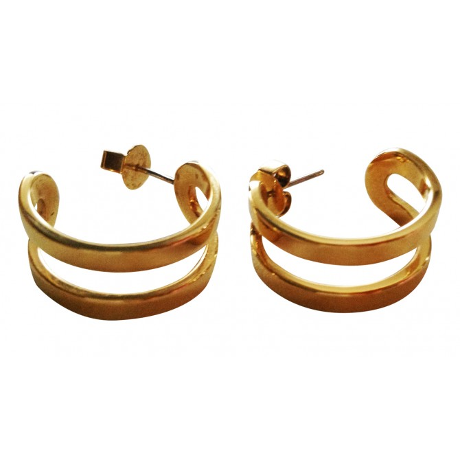 CALVIN KLEIN yellow gold  color earrings