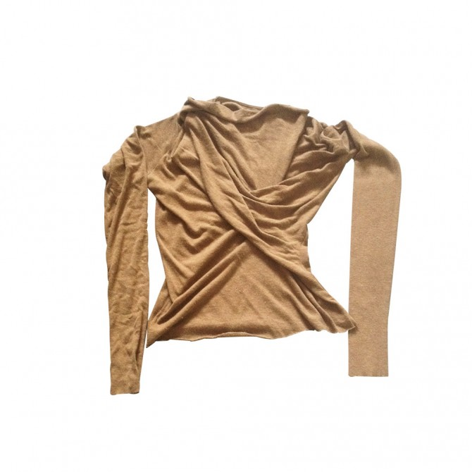 Rick Owens wrap knitwear top