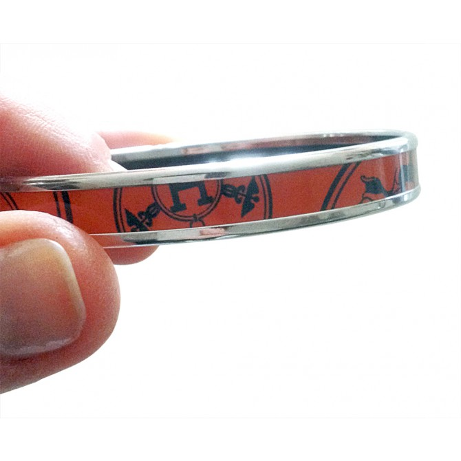 HERMES enameled bracelet