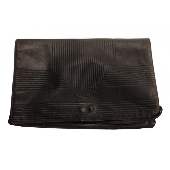 """LANVIN blue """"envelope"""" shape clutch bag VINTAGE"""
