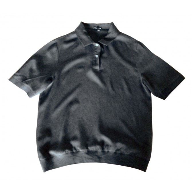 THEORY silk polo top