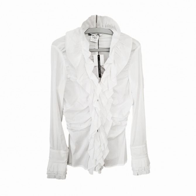 GERMANO ZAMA white ruffled shirt BRAND NEW TAGS ATTACHED