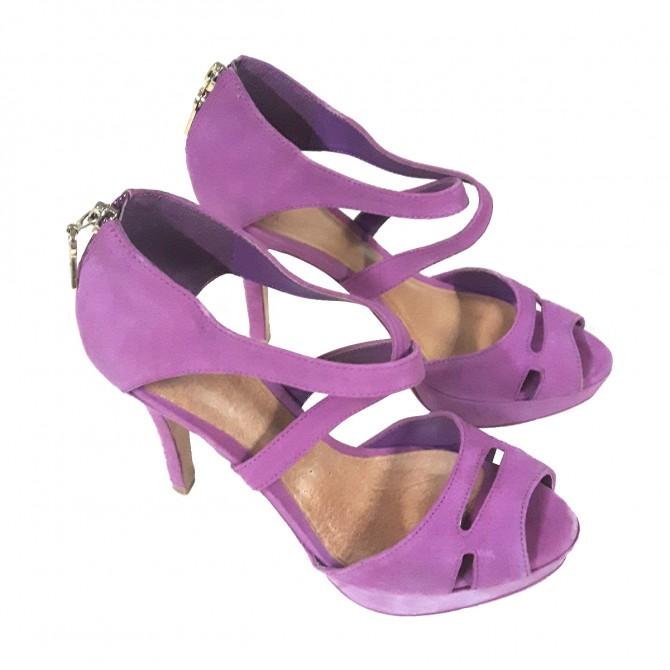 Schutz purple high heels