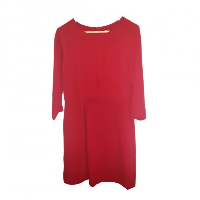Massimo Dutti red dress