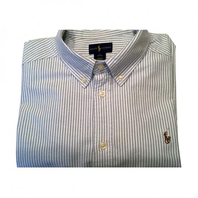 Ralph Lauren Boys Striped Cotton Oxford Shirt