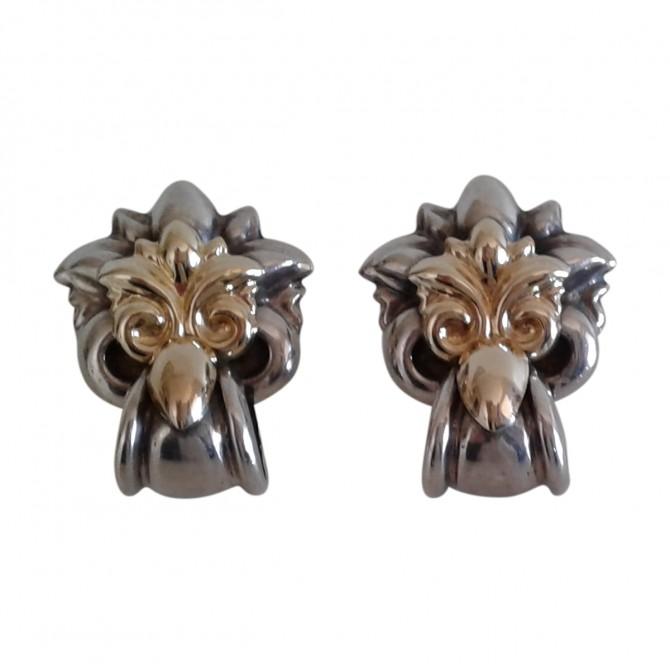 Folli Follie sterling silver gold plated earrings