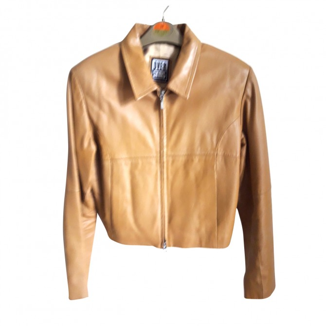LEATHER JACKET IN CAMEL