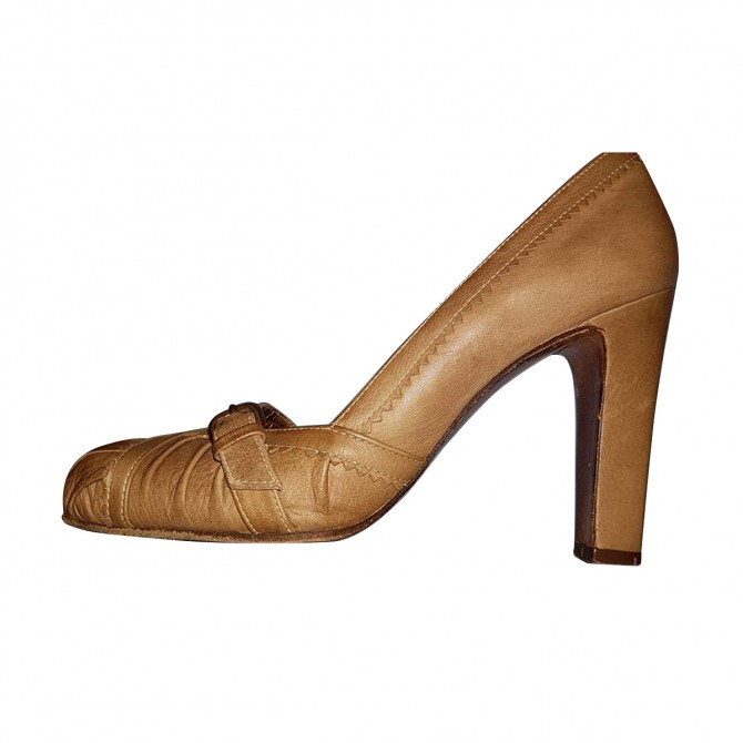 Paco Gill Beige Pumps Vintage Taupe