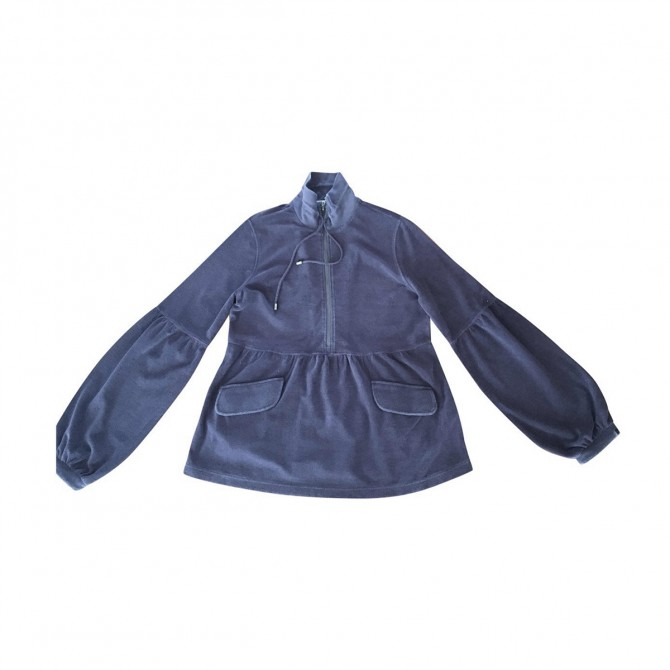 BURBERRY purple color cotton tunic