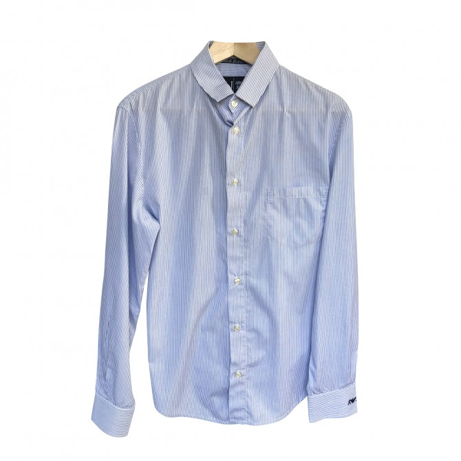 Armani Jeans Blue White Stripped Shirt