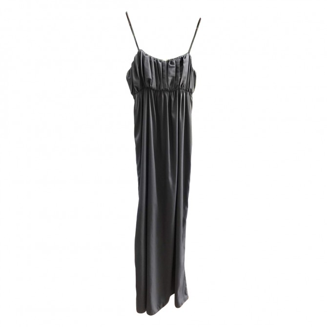 Patricia Pepe grey silk dress