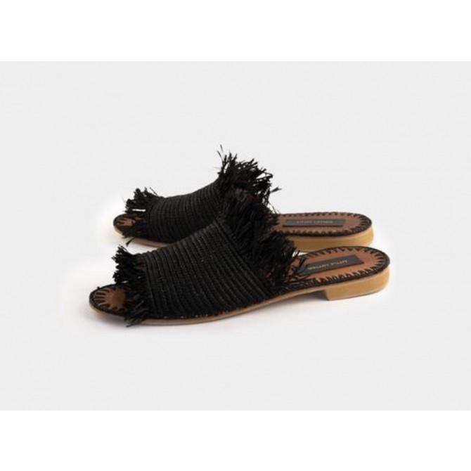 Little Liffner raffia hand made sandals