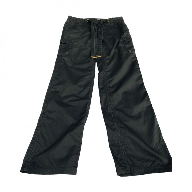 Tommy Hilfiger black cotton trousers
