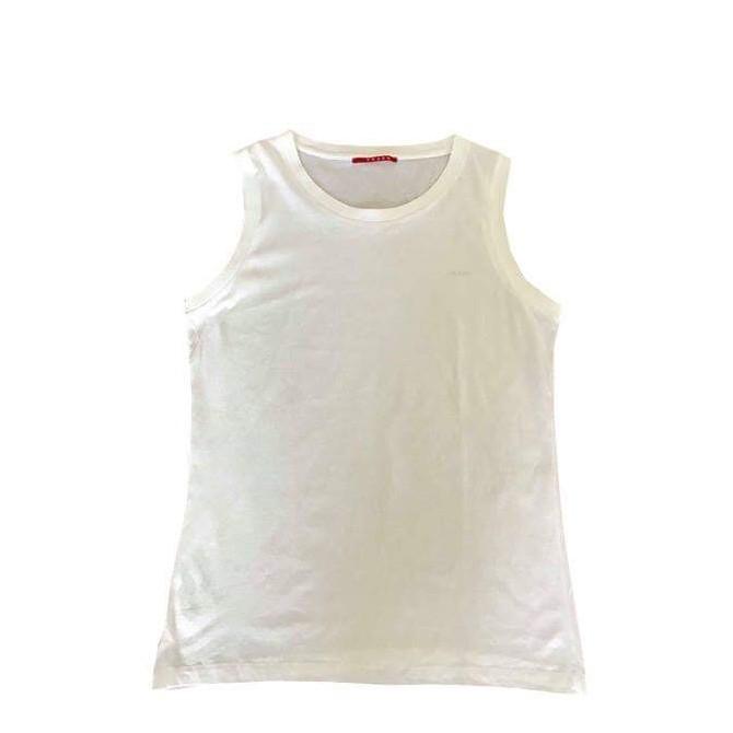 Prada sleeveless white  t-shirt size XXL