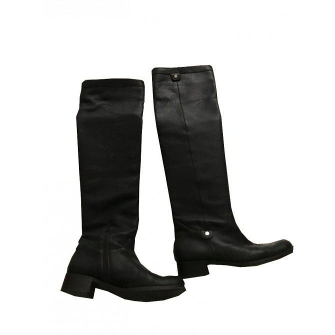 AIGNER OVER THE KNEE BROWN LEATHER BOOTS