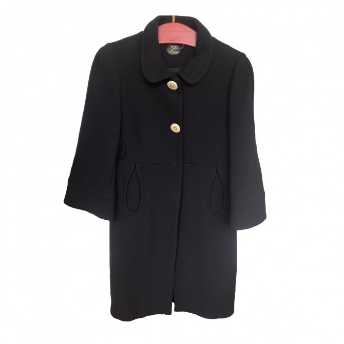 Anya Hindmarch Navy  Blue Coat