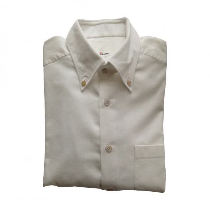 KITON shirt in white cotton