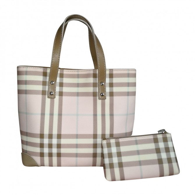 BURBERRY  tote bag with the matching pouch