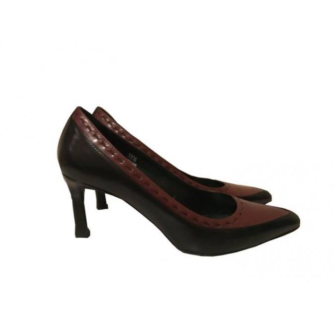 Tod's bi color heels sizeIT38.5