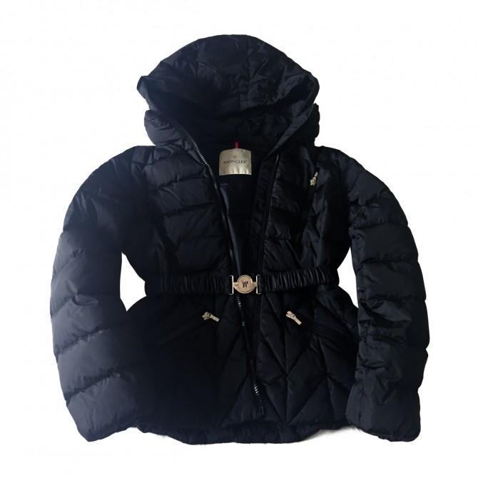Moncler girls black puffer jacket