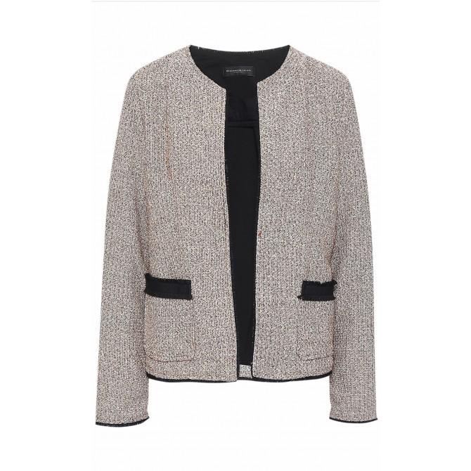Donna Karan tweed style knitted jacket