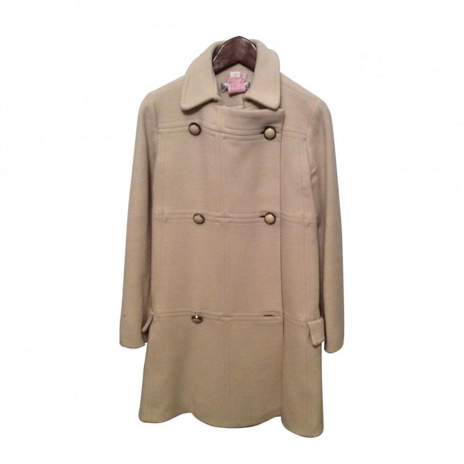 Paul & Joe Ecru Wool Coat