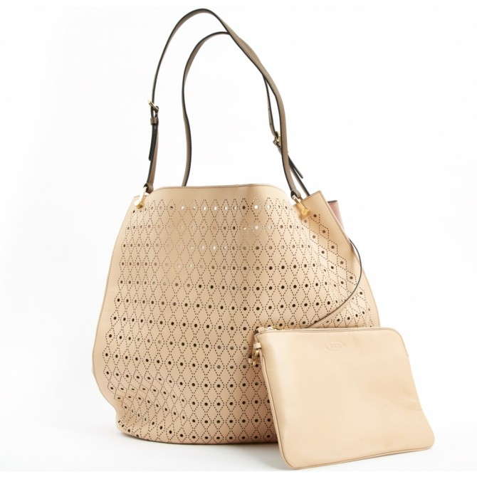 Tod's laser cut out tote