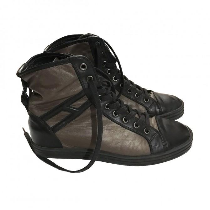 Hogan flat boots LACE UPS