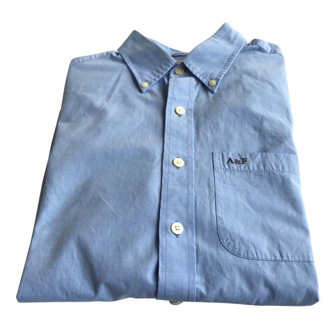 Abercrombie & Fitch blue cotton shirt