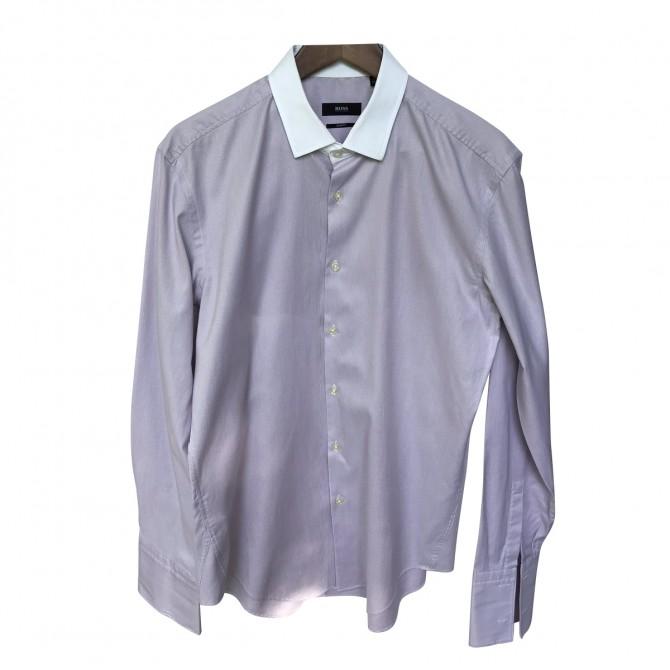 Βoss Light Purple Stripped Shirt Slim fit size 42/16,5 brand new