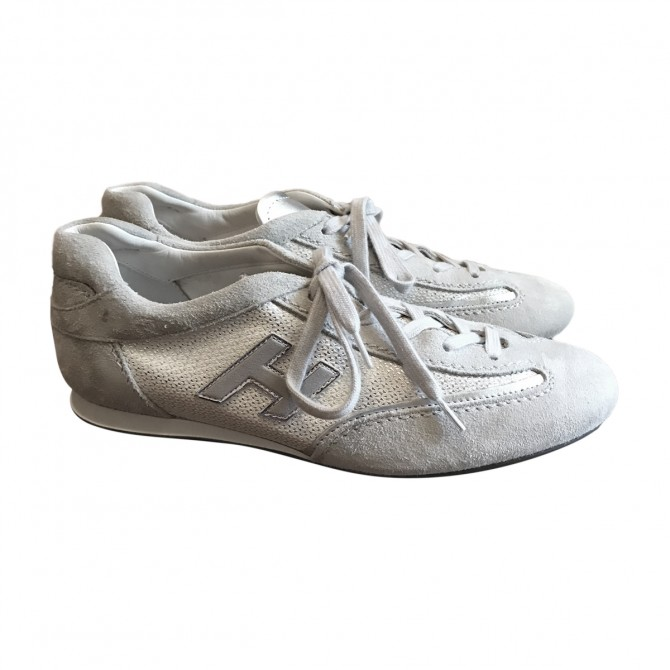 Hogan light grey trainers
