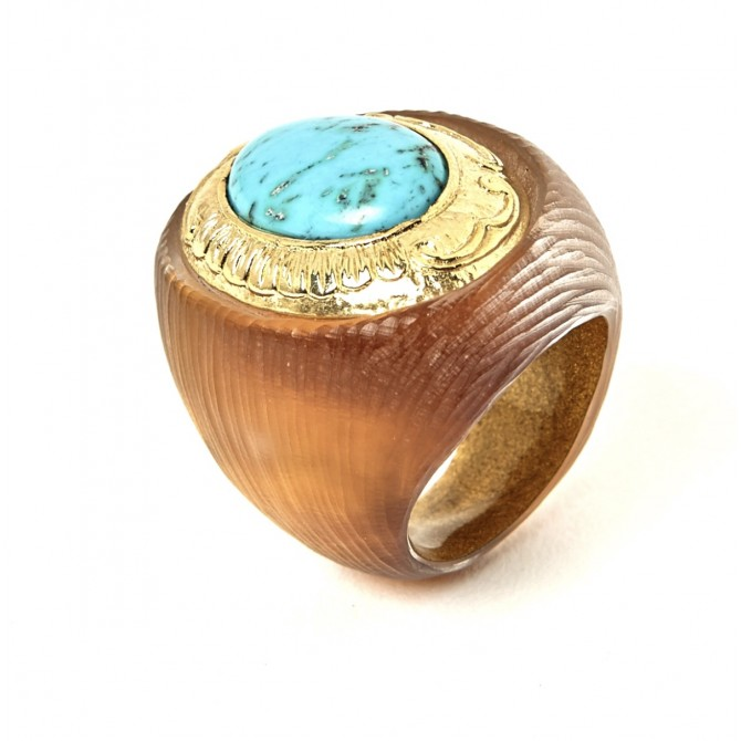 ALEXIS BITTAR TURQUOISE RING