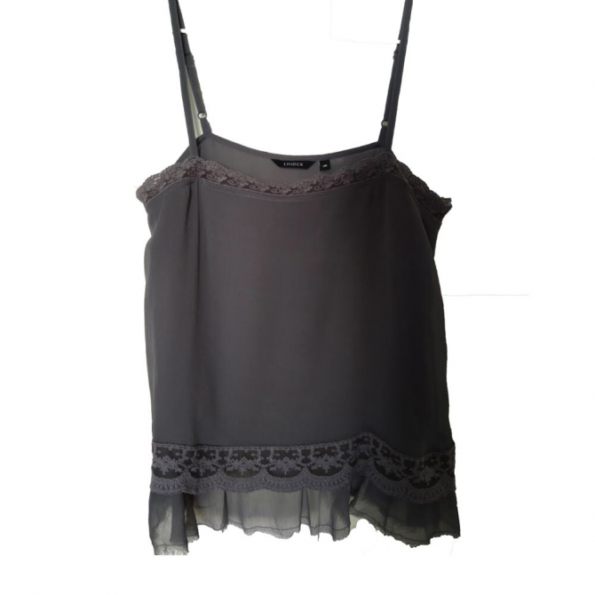 Lindex grey camisole top size FR36 or INT S