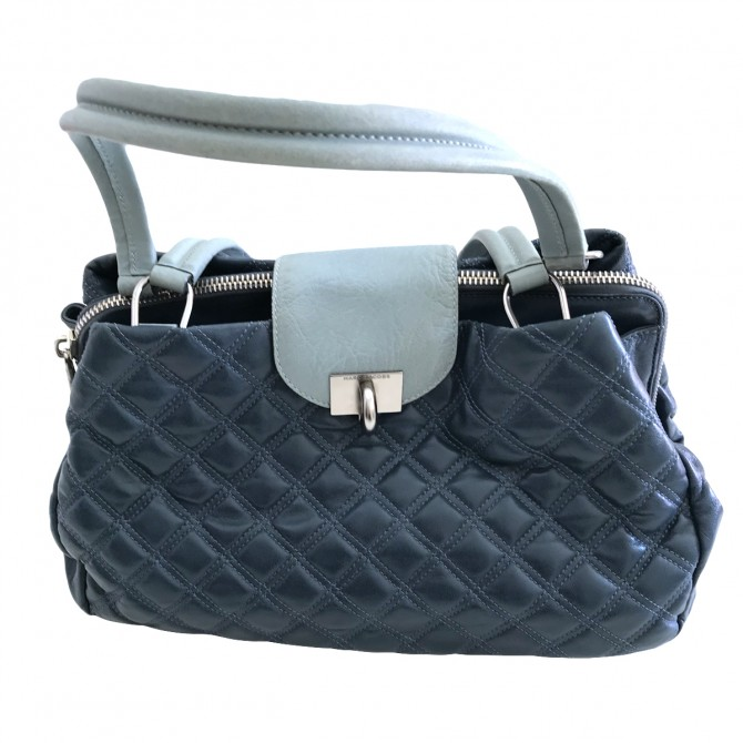 Marc Jacobs Shoulger Bag in blue quilted leather