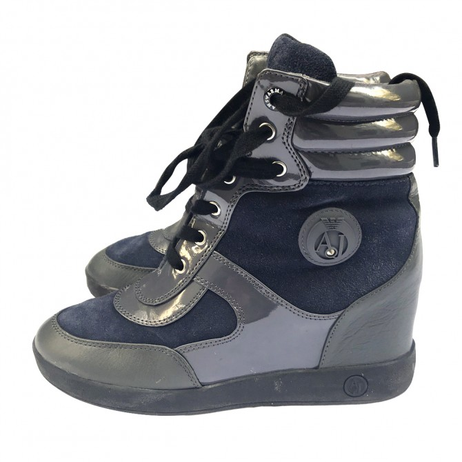 Armani Jeans Blue Grey Boots