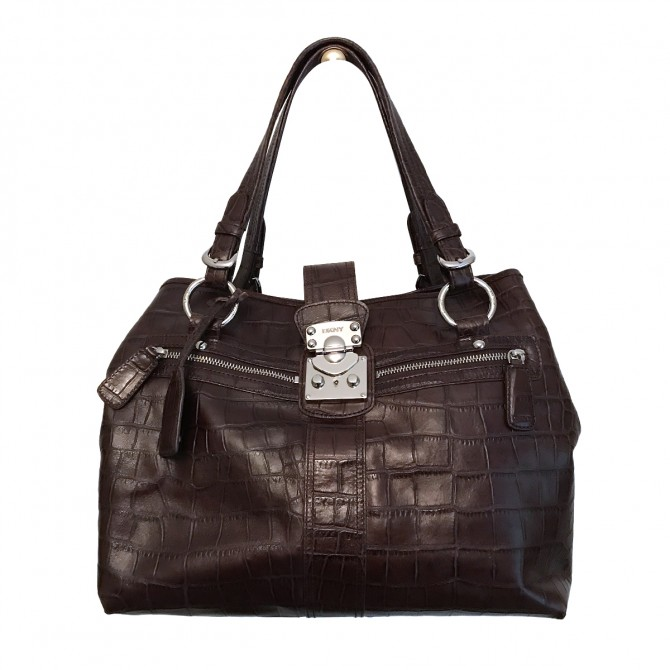 DKNY Brown Leather Handbag