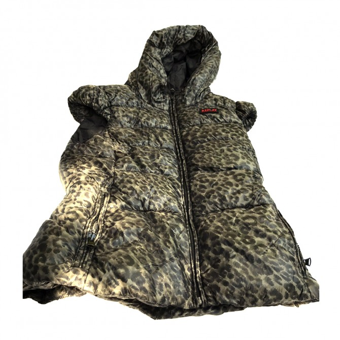 Replay Animal Print Puffer Jacket