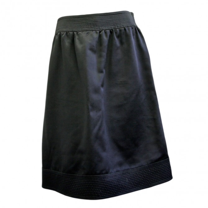 BURBERRY PRORSUM blue silk skirt