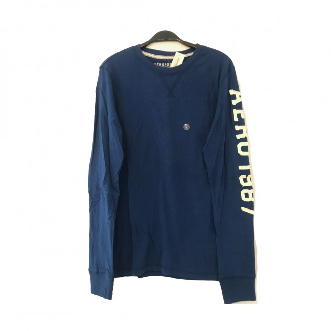 Aeropostale electric blue long sleeve top size M