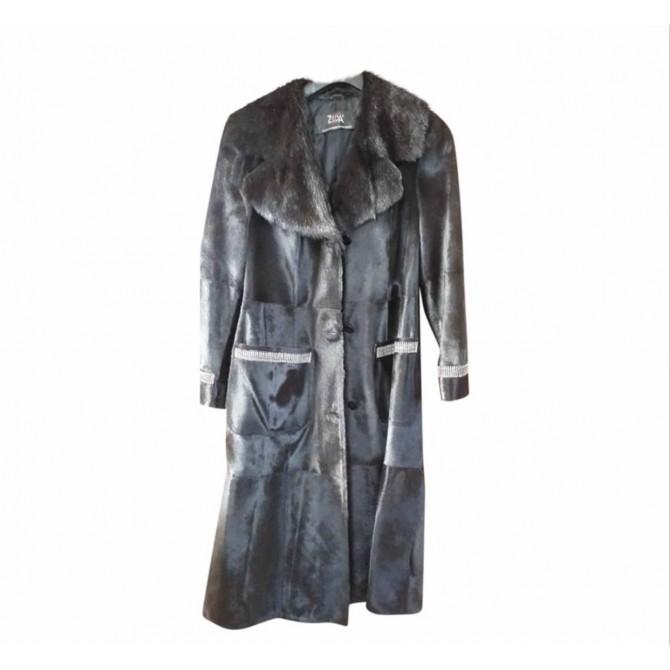 Mink real fur coat size M with Swarovski stones